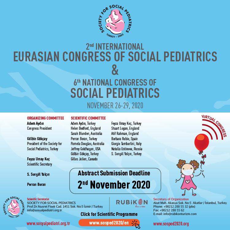 Eurasian Congress of Social Pediatrics and 6th National Congress of Social Pediatrics